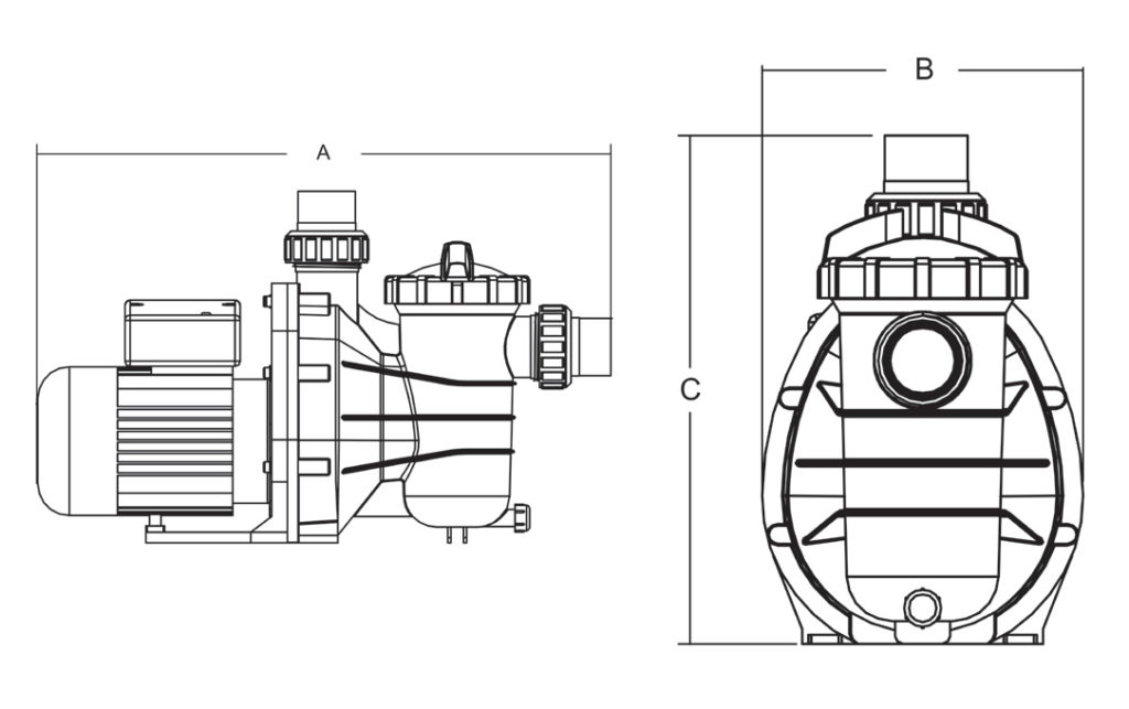 hydro-s-pool-pump-type-ss-product-2-dimensions